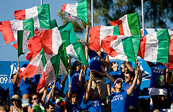 Italian fans during the 13th FINA World Championships Roma 2009, on July 29, 2009, at the Stadio del Nuoto,  in Foro Italico, Rome, Italy. (Photo by Vid Ponikvar / Sportida)