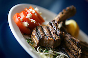 (DENVER, Co. - SHOT 2/23/2005).Yanni's a Greek Taverna on South Monaco Parkway has been serving up authentic Greek food in the same location for 14 years. It's a small, family-run restaurant in south Denver. The marinated Greek-style lamb chops (from Colorado) are a house speciality ($21.95). .(Photo by MARC PISCOTTY/ © 2005)