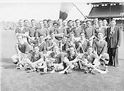 Westmeath Team. Special Hurling Comp. Westmeath v Kerry..Winners - Westmeath..24.08.1952  24th August 1952