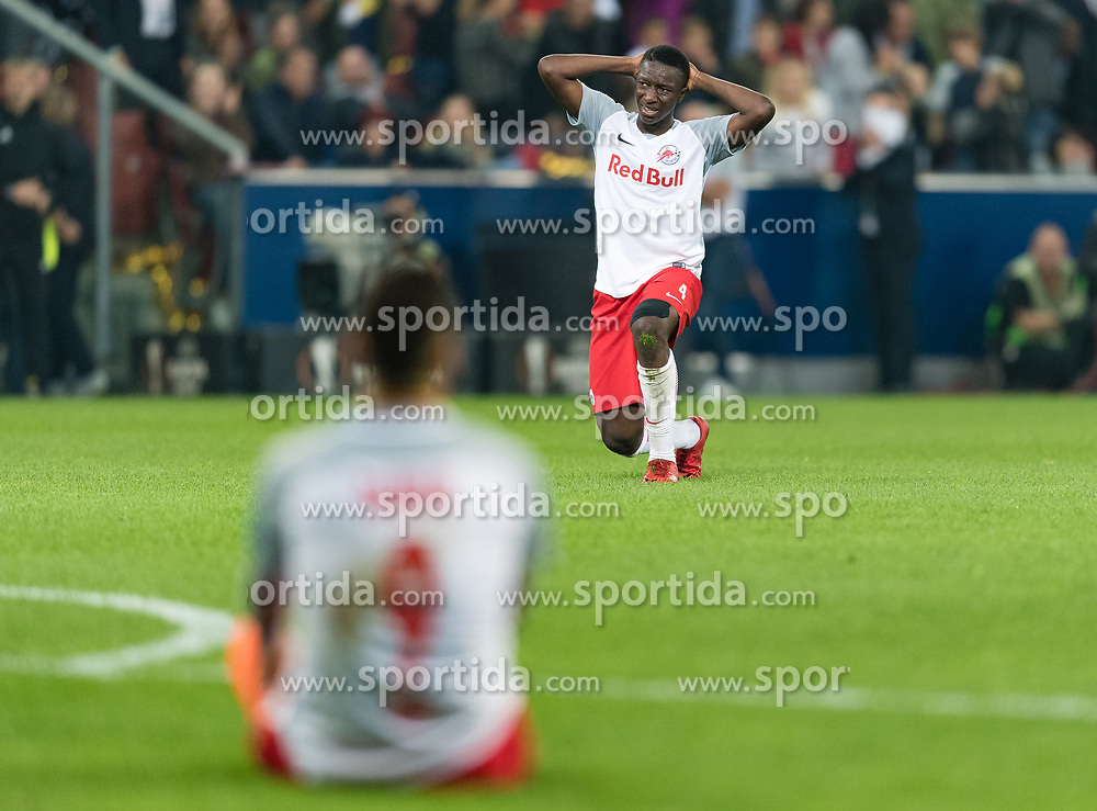 03.05.2018, Red Bull Arena, Salzburg, AUT, UEFA EL, FC Salzburg vs Olympique Marseille, Halbfinale, Rueckspiel, im Bild Amadou Haidara (FC Salzburg) // during the UEFA Europa League Semifinal, 2nd Leg Match between FC Salzburg and Olympique Marseille at the Red Bull Arena in Salzburg, Austria on 2018/05/03. EXPA Pictures © 2018, PhotoCredit: EXPA/ Stefan Adelsberger