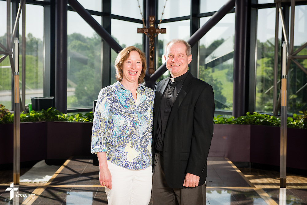 Portrait of Gary and Stephanie Schulte, career missionaries to Togo, at the International Center of The Lutheran Church–Missouri Synod on Wednesday, June 11, 2015, in Kirkwood, Mo. LCMS Communications/Frank Kohn