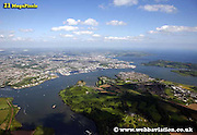 aerial photograph of Plymouth Devon , England UK