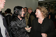 Sue Webster and Rachel Whiteread, Jeff Koons: Hulk Elvis. private view. Gagosian Gallery. 18 1une 2007.  -DO NOT ARCHIVE-© Copyright Photograph by Dafydd Jones. 248 Clapham Rd. London SW9 0PZ. Tel 0207 820 0771. www.dafjones.com.
