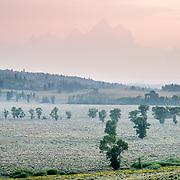 Wildfire smoke infiltrates the Teton Range of Grand Teton National Park.