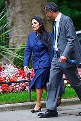 © Licensed to London News Pictures. 14/07/2015. London, UK. Minister of State for Employment, Priti Patel attending to a cabinet meeting in Downing Street on Tuesday, July 14, 2015. Photo credit: Tolga Akmen/LNP