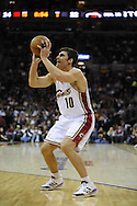 Wally Szczerbiak of Cleveland...The Miami Heat lost to the host Cleveland Cavaliers 84-76 at Quicken Loans Arena, April 13, 2008..