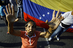 April 30, 2019 - Valencia, Carabobo, Venezuela - The Venezuelans start a new protest against Maduro. The interim president Juan Guaido call to take the street in all Venezuela. This photos ar from the Valencia city, Carabobo state.  (Credit Image: © Juan Carlos Hernandez/ZUMA Wire)