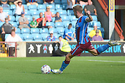 Paddy Madden takes penalty during the Sky Bet League 1 match between Scunthorpe United and Millwall at Glanford Park, Scunthorpe, England on 22 August 2015. Photo by Ian Lyall.