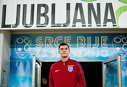 Michael Keane during pitch check of Team England 1 day before football match between National teams of Slovenia and England in Round #3 of FIFA World Cup Russia 2018 qualifications in Group F, on October 10, 2016 in SRC Stozice, Ljubljana, Slovenia. Photo by Vid Ponikvar / Sportida