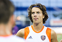 DEN BOSCH -  Tom Hiebendaal , de maker van 1-0 na de wedstrijd tussen de mannen van Jong Oranje  en Jong Engeland, tijdens het Europees Kampioenschap Hockey -21. ANP KOEN SUYK