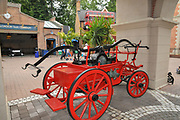 Old fire engine at Europa-Park is the largest theme park in Germany. is located at Rust between Freiburg and Strasbourg, France.