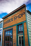 Historic barber shop, Ridgway, Colorado USA