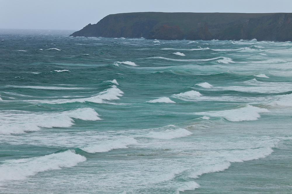 Tràigh Mhòr Beach against Tolsta Head  - Rubha Tholastaidh. Northeast Lewis Island. Outer Hebrides. Scotland, UK