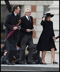 Lord Heseltine attends Lady Thatcher's funeral at St Paul's Cathedral following her death last week, London, UK, Wednesday 17 April, 2013, Photo by: Andrew Parsons / i-Images