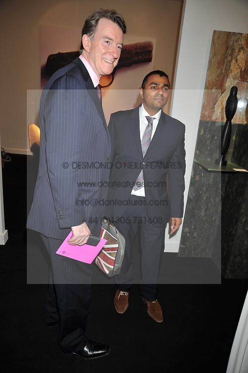 Left to right, LORD MANDELSON and LORD ALI at the Moet Hennessy Pavilion of Art & Design London Prize 2009 held in Berkeley Square, London on 12th October 2009.