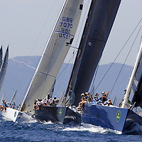 Giraglia Rolex Cup 2006. St Tropez.illustration SAILING MAXI-YACHTS.SUPERSIZE SAILING