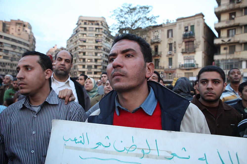 Protesters at Cairo's main Tahrir (Liberation) Square.