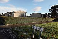 Post-war prefabricated houses in Paisley, near Glasgow, Scotland