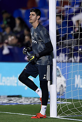 February 24, 2019 - Valencia, Valencia, Spain - Thibaut Courtois of Real Madrid during the warm-up before  the week 25 of La Liga match between Levante UD and Real Madrid at Ciutat de Velencia Stadium in Valencia, Spain on February 24, 2019. (Credit Image: © Jose Breton/NurPhoto via ZUMA Press)