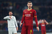 Edin Dzeko of Roma reacts during the UEFA Europa League, Group J football match between AS Roma and Wolfsberg AC on December 12, 2019 at Stadio Olimpico in Rome, Italy - Photo Federico Proietti / ProSportsImages / DPPI