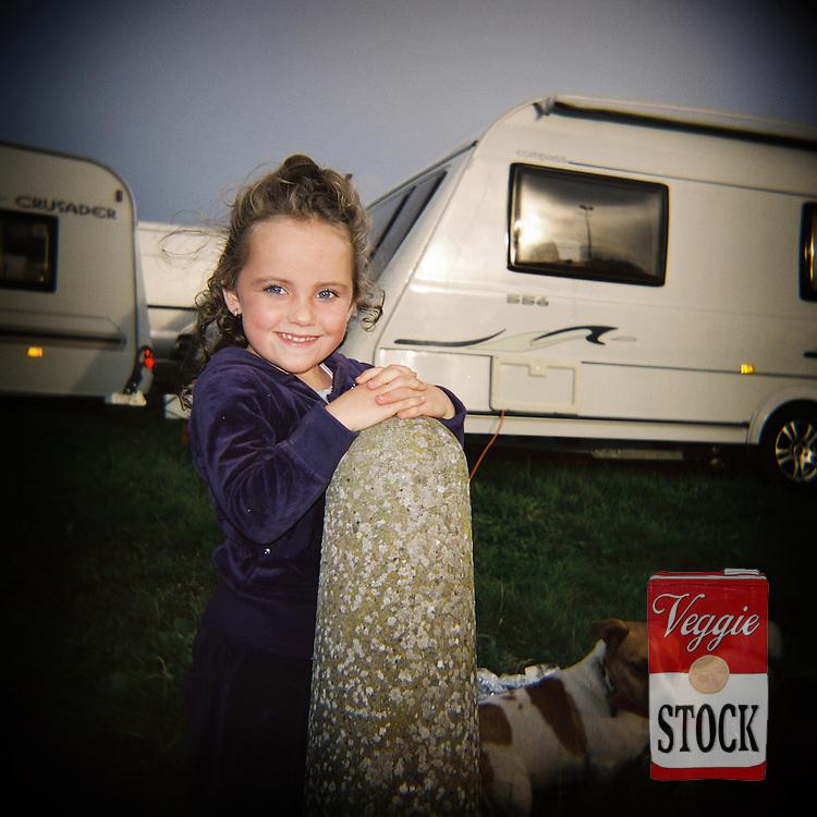 Traveler Girl, Ballinasloe Horse Fair, Co. Galway, Ireland, October 2010.