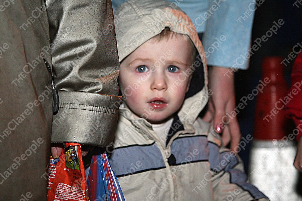 Cillian Ryan was a little dumb struck at the annual switching on of the Christmas lights in Ennis on Thursday evening.<br /><br /><br /><br />Photograph by Yvonne Vaughan.