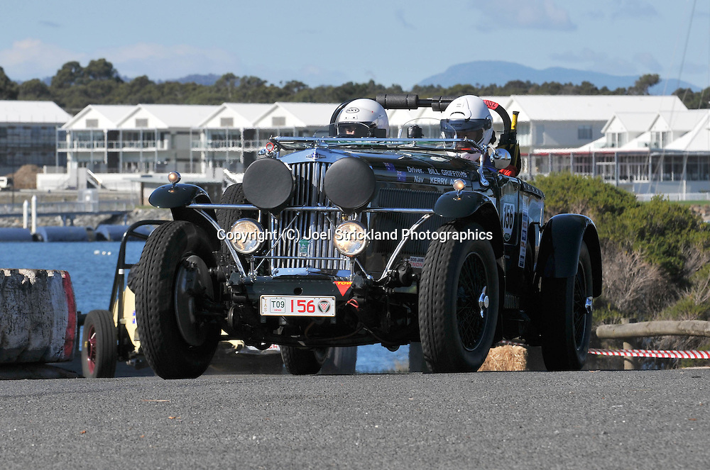 Bill Griffiths & Kerry Auty .1936 Roesch Talbot BG 110.Prologue.George Town.Targa Tasmania 2009.28th of April 2009.(C) Joel Strickland Photographics.