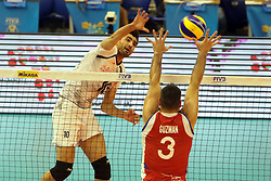 September 12, 2018 - Varna, Bulgaria - from left Amir GHAFOUR (Iran), Pablo GUZMAN (Puerto Rico), .FIVB Volleyball Men's World Championship 2018, pool D, Iran vs Puerto Rico,. Palace of Culture and Sport, Varna/Bulgaria, .the teams of Finland, Cuba, Puerto Rico, Poland, Iran and co-host Bulgaria are playing in pool D in the preliminary round. (Credit Image: © Wolfgang Fehrmann/ZUMA Wire)