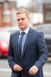 © Licensed to London News Pictures. 22/11/2017. Wakefield, UK. Corpus Christi Catholic school teacher Andrew Kellett arrives at Wakefield Coroners Court this morning for the Ann Maguire inquest. Mrs Maguire, a 61 year old Spanish teacher, was stabbed to death by Will Cornick at Corpus Christi Catholic College in Leeds in April 2014. The school pupil, who was 15 at the time, admitted murdering Mrs Maguire and was given a life sentence later that year. Since then, some of Mrs Maguire's family have campaigned for further investigation into her death as they believe more could have been done to prevent the tragedy. Photo credit: Andrew McCaren/LNP