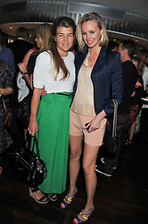 Left to right, AMBER NUTTALL and BODIL BLAIN at a party to celebrate the launch of Jax Coco - a new soft drink, held at Harvey Nichols 5th Floor Bar, 109-125 Knightsbridge, London on 25th June 2012.
