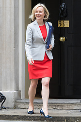 Downing Street, London, September 9th 2016.  Justice Secretary and Lord Chancellor Liz Truss leaves 10 Downing Street following the weekly cabinet meeting.