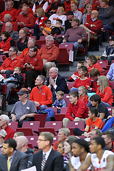 10 December 2016:  Dan Brady and Larry Dietz are in the crowd during an NCAA  mens basketball game between the UT Martin Skyhawks and the Illinois State Redbirds in a non-conference game at Redbird Arena, Normal IL
