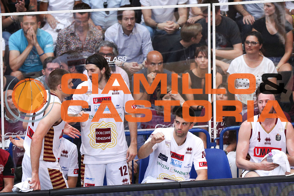 Panchina Venezia, Dolomiti Energia Trentino vs Umana Reyer Venezia LBA Serie A Playoff Finale gara 6 stagione 2016/2017 Pala Trento, Trento 20 giugno 2017