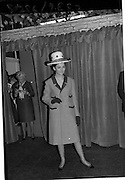 09/03/1964<br /> 03/09/1964<br /> 09 March 1964<br /> McBirney's Fashion show at McBirney's, Aston Quay, Dublin.<br /> Model Mary wearing a pink coat, hat and gloves from the collection.