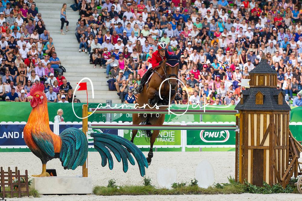 Stefanie Bistan, (AUT), Bogegaardens Apollonia - World Champions, - Second Round Team Competition - Alltech FEI World Equestrian Games&trade; 2014 - Normandy, France.<br /> &copy; Hippo Foto Team - Leanjo De Koster<br /> 25/06/14