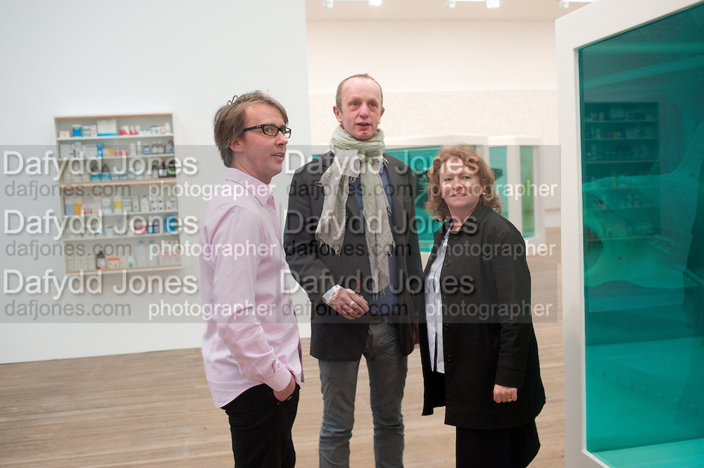 MARCUS TAYLOR; JOHNNIE SHAND KYDD; RACHEL WHITEREAD, Damien Hirst, Tate Modern: dinner. 2 April 2012.