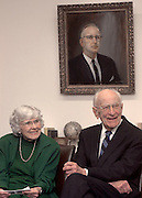 15576Robert & Jean Mahn press conference: gift of $1 million dollars to Unv. Archives
