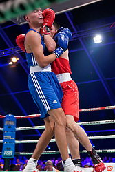17-11-2019 NED: World Port Boxing Netherlands - Kazakhstan, Rotterdam<br /> 3rd World Port Boxing in Excelsior Stadion Rotterdam / Enrico Lacruz (NED) in action against Zakir Safiullin (KAZ), 63 kg class