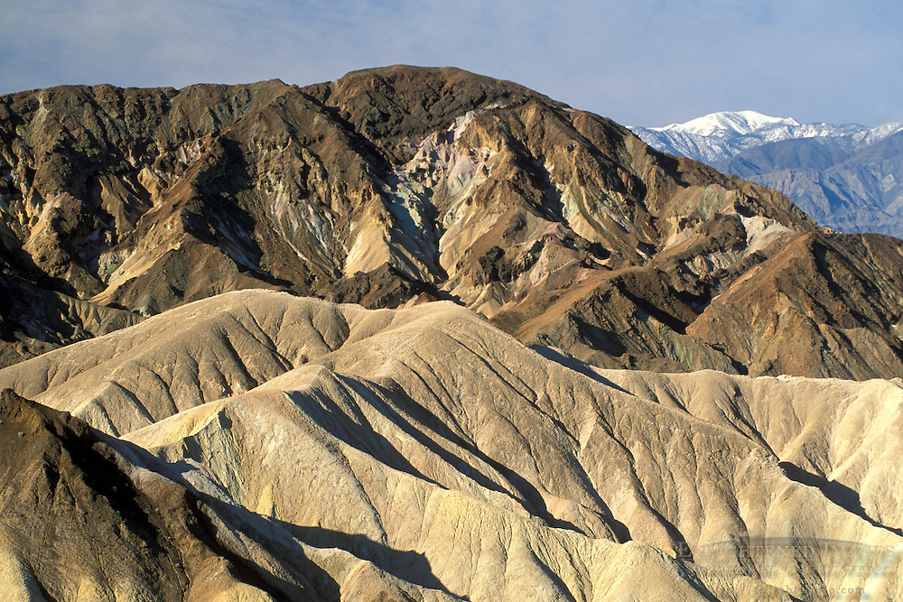 Eroded hills in the Black Mountains, Zabriskie Point, Amargosa Range, Death Valley National Park, California