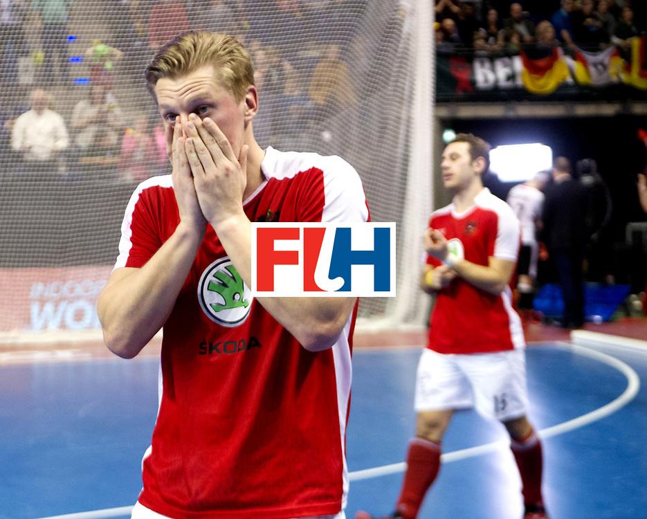 BERLIN - Indoor Hockey World Cup<br /> Final: Germany - Austria<br /> Austria wins the world championship.<br /> foto: Michael K&ouml;rper.<br /> WORLDSPORTPICS COPYRIGHT FRANK UIJLENBROEK