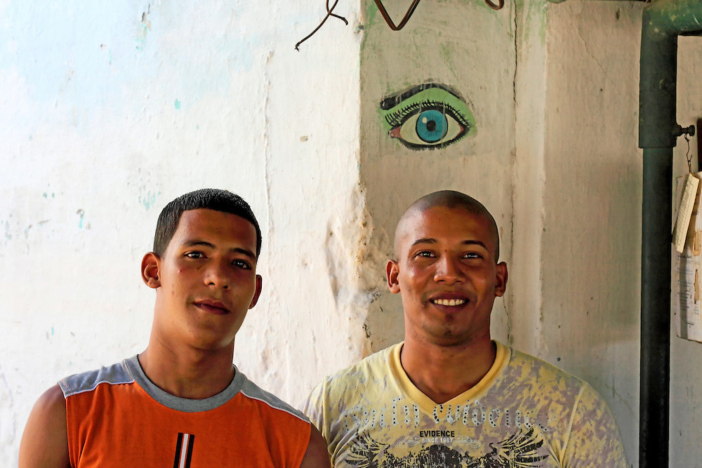 Evil eye in Havana Regla, Cuba.