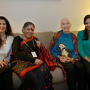 Osprey Orielle Lake, Dr. Vandana Shiva, Dr. Jane Goodall, and Jaskiran Dhillon at the International Women's Earth and Climate Summit register in preparation for the summit. Leaders from 35+ countries gathered for the drafting of a Women's Climate Action Agenda in Suffern, New York September 20-23rd, 2013 as part of the International Women's Earth and Climate Summit.  For a full list of Summit delegates and an agenda visit www.iweci.org
