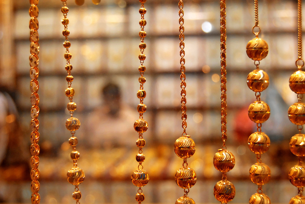 Dubai, gold sukh,  |Souk, Soukh, Souq, Suk,| chains in a shop