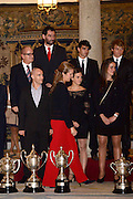 05.DECEMBER.2012. MADRID<br /> <br /> THE SPANISH ROYAL FAMILY GIVE AWARDS AT THE NATIONAL SPORTS AWARDS IN MADRID<br /> <br /> BYLINE: EDBIMAGEARCHIVE.CO.UK<br /> <br /> *THIS IMAGE IS STRICTLY FOR UK NEWSPAPERS AND MAGAZINES ONLY*<br /> *FOR WORLD WIDE SALES AND WEB USE PLEASE CONTACT EDBIMAGEARCHIVE - 0208 954 5968*