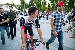 Jan Polanc and Andrej Hauptman of KK Radenska during Stage 1of  cycling race 20th Tour de Slovenie 2013 - Time Trial 8,8 km in Ljubljana,  on June 12, 2013 in Slovenia. (Photo By Vid Ponikvar / Sportida)