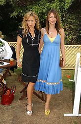 Left to right, JADE JAGGER and LIZ HURLEY at the Macmillan Cancer Support Dog Day held in the gardens of the Royal Hospital, Chelsea, London on 4th July 2006.<br />