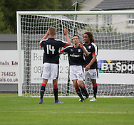 Dundee&rsquo;s Mark O&rsquo;Hara congratulates Cammy Kerr on his opener  - Dumbarton v Dundee, pre-season friendly at the Cheaper Insurance Direct Stadium, Dumbarton<br /> <br />  - &copy; David Young - www.davidyoungphoto.co.uk - email: davidyoungphoto@gmail.com