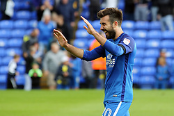 Michael Doughty of Peterborough United celebrates the victory at full-time - Mandatory by-line: Joe Dent/JMP - 19/08/2017 - FOOTBALL - ABAX Stadium - Peterborough, England - Peterborough United v Rotherham United - Sky Bet League One