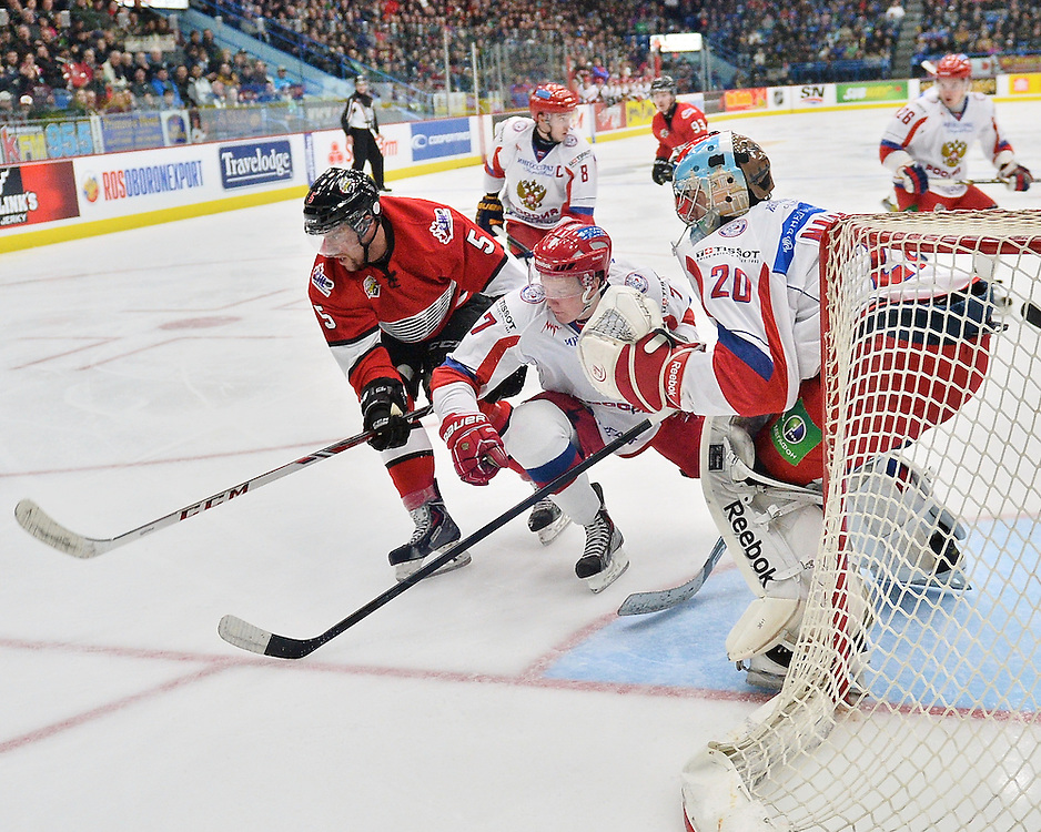 The Subway Super Series in Sudbury on Monday Nov. 25, 2013. Photo by Terry Wilson / OHL Images.
