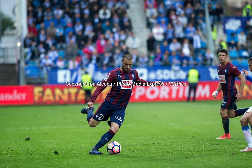 Match day of La Liga Santander 2016 - 2017 season between S.D Eibar - C.D Leganes, played Ipurua Stadium on Sunday, April 30th, 2017. Eibar, Spain. 21 Pedro Leon. Photo: ION ALCOBA | PHOTO MEDIA EXPRESS